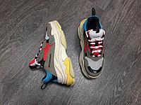 Кроссовки Balenciaga Triple S Red Lake Blue Charcoal Grey