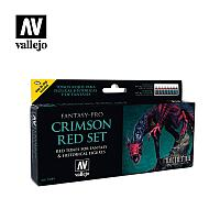 Набор VALLEJO FANTASY-PRO CRIMSON RED 8x17ml.
