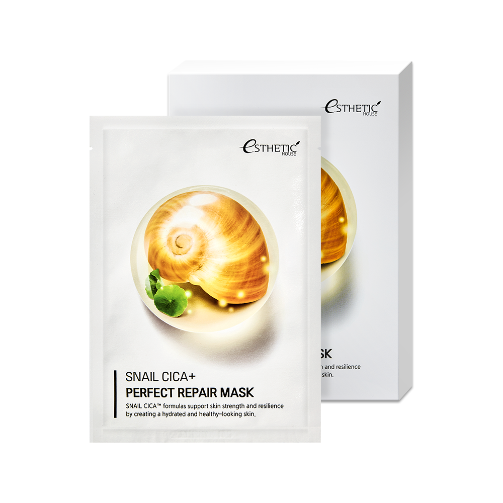 Тканевая маска для лица МУЦИН УЛИТКИ ESTHETIC HOUSE  SNAIL CICA+ PERFECT REPAIR MASK, 25 мл