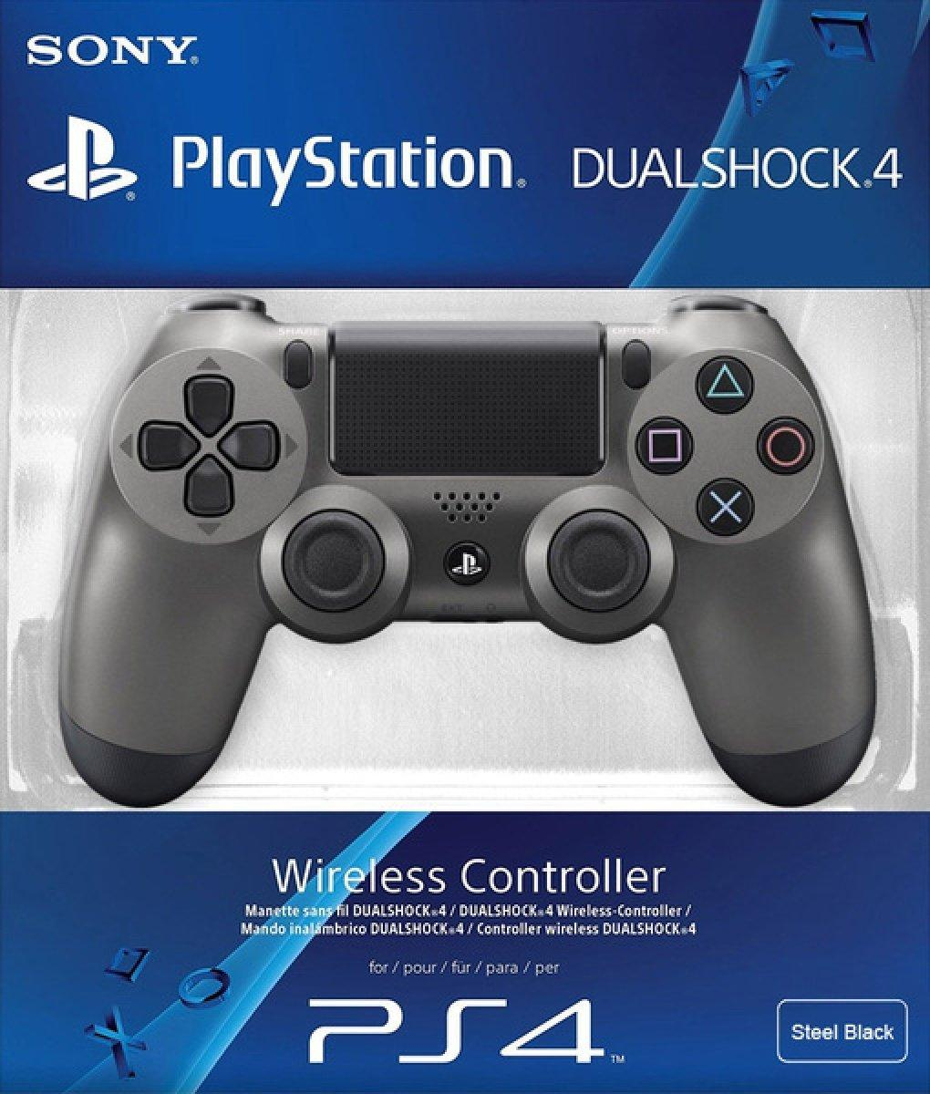 Геймпад PS4 беспроводной DualShock 4 Wireless Controller (Steel Black) (Реплика)