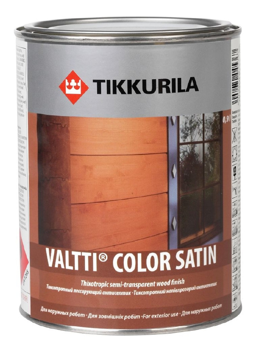 Валтти Колор Сатин – Tikkurila Valtti Color Satin  0,9 л
